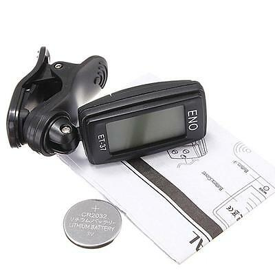 LCD Clip-on Electronic Digital Guitar Tuner for Chromatic Bass Violin Ukulele ❀H