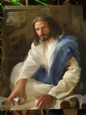 Jesus at the last supper - Original Oil Painting -  Lenkiewicz style