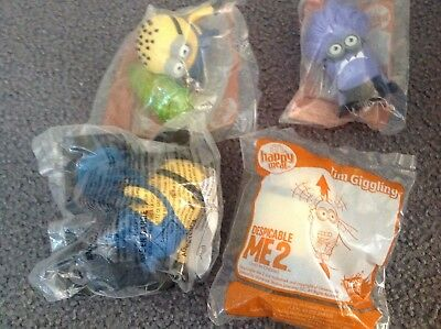 McDonalds Happy Meal Toys 2013  Despicable Me 2 New x 4