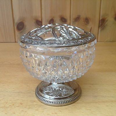 Vintage Glass & Silver Plated Posy Vase