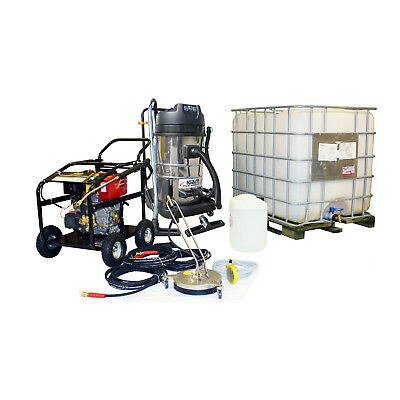 £19/WEEK on LEASE Business Pack Diesel Jet Washer Vacuum Block Paving Driveway