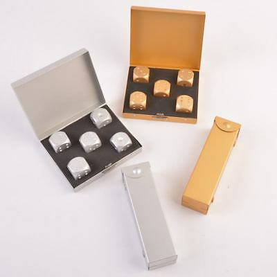 5pcs Aluminum Alloy Dice Set Metal Case Gift for Party Home Play Games