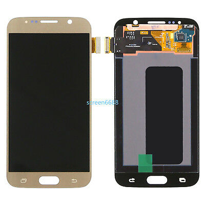 For Samsung Galaxy S6 G920F G920 LCD Display Touch Screen Bildschirm gold+cover