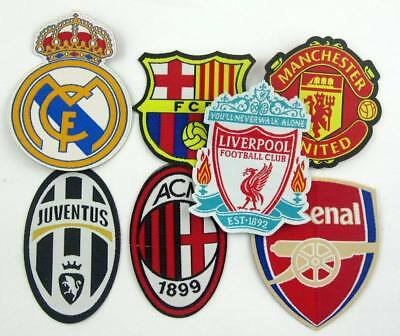 for Barcelona real madrid Juventus AC fans Iron On Patch DIY Embroidered Cloth