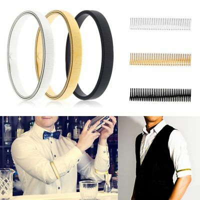 2 Pairs Metal Sleeve Holders Garters Elasticated Shirt Sleeve Arm Bands Man Lady