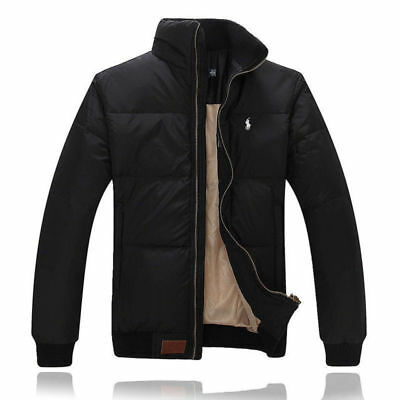 New Winter Casual Men's jacket Down jacket Real Duck Down Parka Black Coat