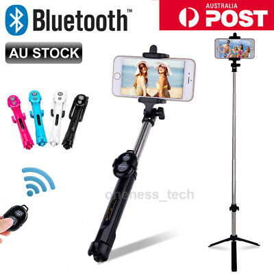 Monopod Selfie Stick Handheld Tripod Bluetooth Shutter For iPhone 6 7 Samsung AU