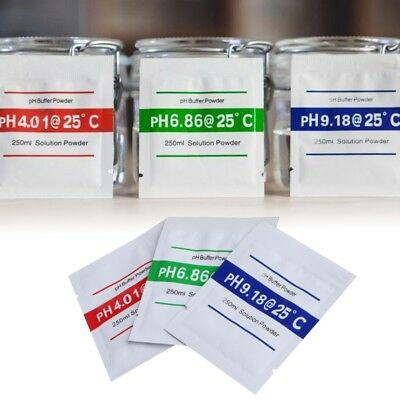3 Pcs PH Buffer Solution Powder PH Test Meter Measure Calibration 4.01 6.86 9.18