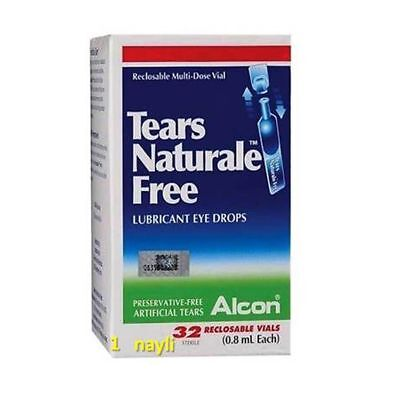 ALCON-Tears-Naturale-Lubricant-Dry-Eye-Drops-Preservative Free 32-Vials