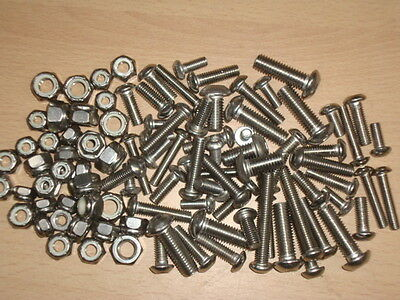 Stainless UNC Allen Bolts, Socket Button & Nyloc Nuts - Harley Davidson-American