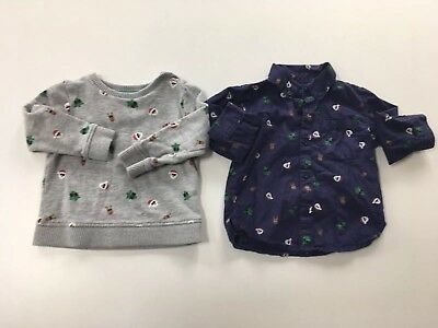 Mothercare (like Little bird) Christmas Jumper And Shirt 12-18