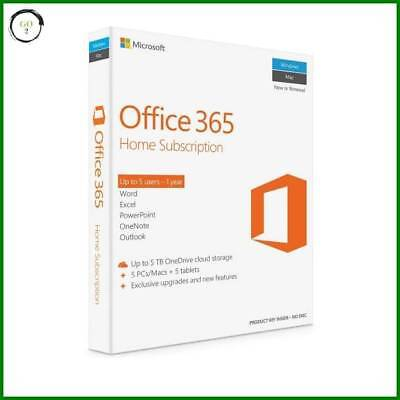 Office 365 Home Premium 1Yr Subscription 5User or Renewal online fast deliver...