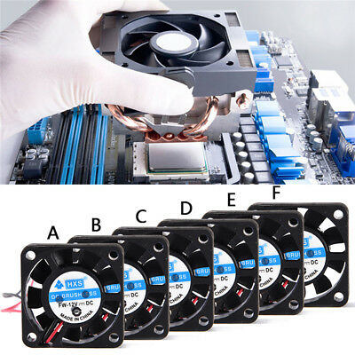 40mm 50mm 60mm 70 mm 80mm DC 12V Black Square  Computer Case PC Cooling Fan