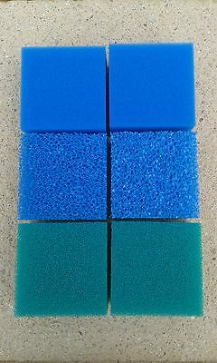 6 x Foam Pads Filter Fish Tank Compact Replacement For Juwel Nitrate/Fine/Course