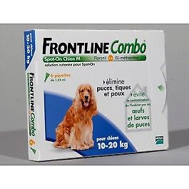 Frontline Combo Chien 10-20 kg 6 pipettes