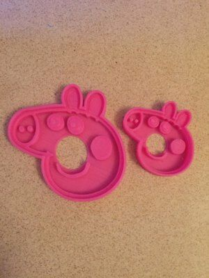 Peppa Pig Cookie Cutter Biscuit Pastry Play Doh Cake Decor Decorating