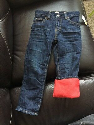 NWT Baby Gap toddler Boy feece lined Jeans pants Size 4yrs