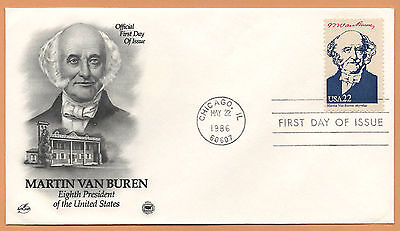 """US 1986 V.F. FDC The Postal Commemorative Society """" 8th Presidend of the US """""""