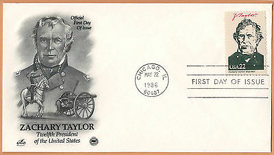 """US 1986 V.F. FDC The Postal Commemorative Society """" 12th Presidend of the US """""""
