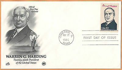 """US 1986 V.F. FDC The Postal Commemorative Society """" 29th Presidend of the US """""""