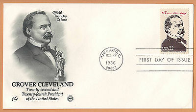 """US 1986 V.F. FDC The Postal Commemorative Society """" 22nd Presidend of the US """""""