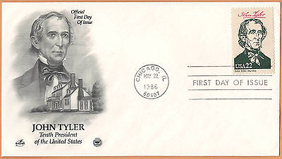 """US 1986 V.F. FDC The Postal Commemorative Society """" 10th Presidend of the US """""""