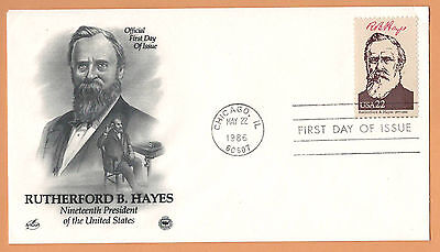 """US 1986 V.F. FDC The Postal Commemorative Society """" 19th Presidend of the US """""""