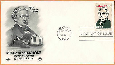 """US 1986 V.F. FDC The Postal Commemorative Society """" 13th Presidend of the US """""""