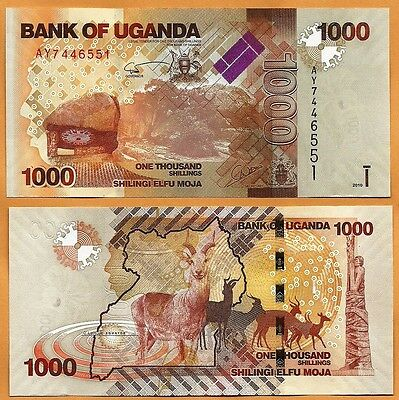 Uganda 2010 GEM UNC 1000 Shillings Banknote Paper Money Bill P-49