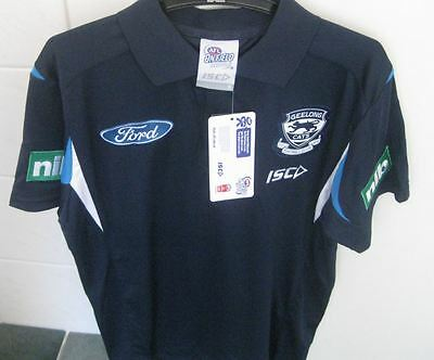 GEELONG CATS  PERFORMANCE POLO SHIRT Size M . NUMBER 35.FREE EXPRESS POST.