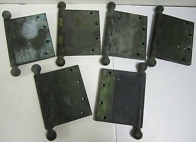 "Set of 6 Heavy Duty Solid Brass Metal Yale 5""x8"" Door Hinges Two Sets Commercial"