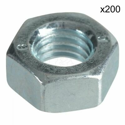Steel Nuts Size: M6 (Zinc Plated) - Pack of 200