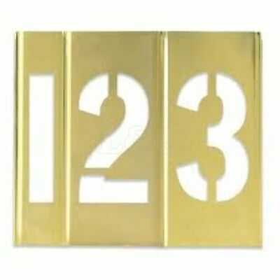 Interlocking Brass Stencil 50mm 0-9 Number Set