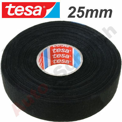 Vehicle Car Cable Insulated Tape Adhesive Cloth 0 31/32in x 25 M Tesa Fleece