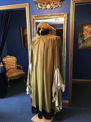 Fantastic Men's Theatrical Style Medieval  Period Gown With Matching Hat