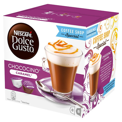 Nescafé Dolce Gusto Chococino Caramel Pack of 3 (Total 48 Capsules, 24 servings)