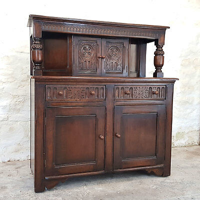 Jacobean Style Oak Court Cupboard C1930 (Antique Tudor)