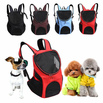 Outdoor Double Shoulder Small Dog Bag Carrier Backpack Pet Travel Mesh Windows