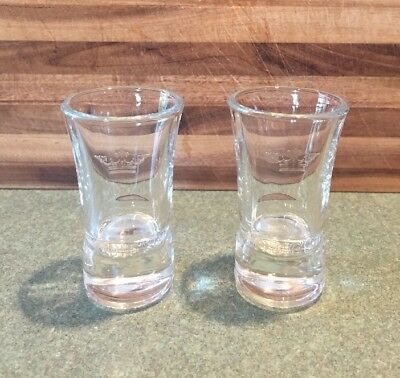 Set Of 2 Brand New Sobieski Vodka Tall Glass Shot Glasses *Free Shipping*