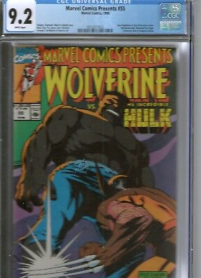 marvel comics presents wolverine vs the hulk no55 cgc comic