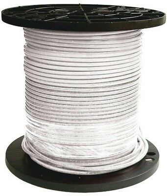 6 AWG THHN Wire 500 foot ft 6 Gauge Stranded White Copper Electrical Wire 600V