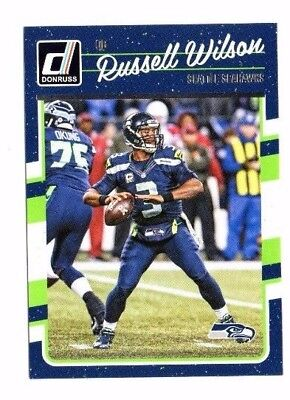 Russell Wilson 2016 Panini Donruss, Football Card !!