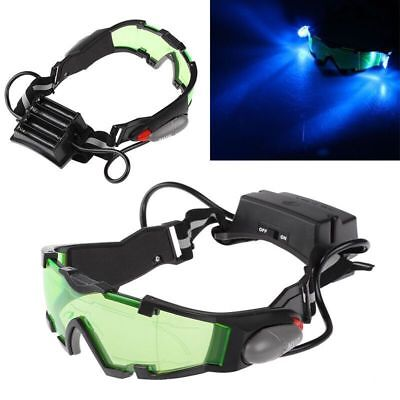 Adjustable LED Night Vision Glass Goggles with Filp-out Light Windproof Hunting