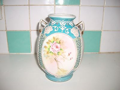 HAND PAINTED VASES IE & C Co. JAPAN