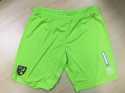 Official Norwich City Fc Player Worn Shorts 2015-16