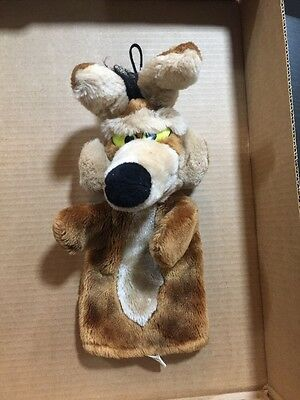 "WILE E. COYOTE - Warner Brothers 12"" Plush Hand Puppet - 1989 Warner Bros!"