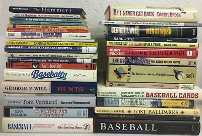 Lot Of 32 Baseball Books MLB Stories Major League Baseball