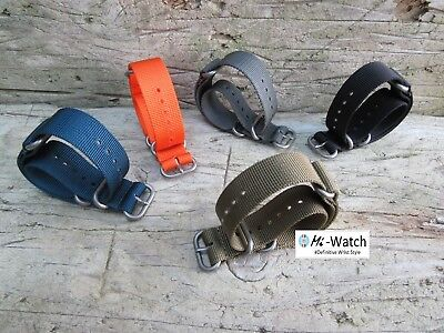 ZULU Nato G10 Nylon Divers, MOD, Military Army Watch Strap Band 18, 20, 22, 24mm