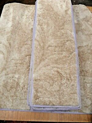 30x8.50inches(76x22cm) 12x STAIR PADS /TREADS BEIGE *SOFT* #3319