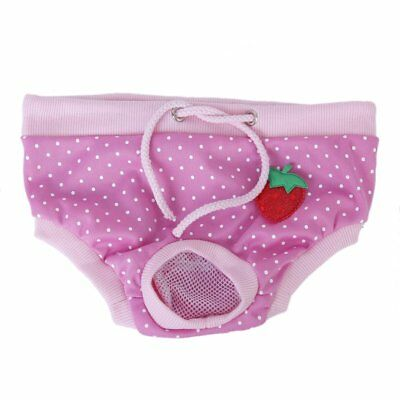 Female Pet Dog Hygienic Sanitary Diaper Pant Brief for Small Dog Pink K8R7